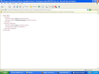 Correct way of writing web.xml showed in Internet Explorer