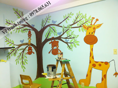 tranh tường phòng bé