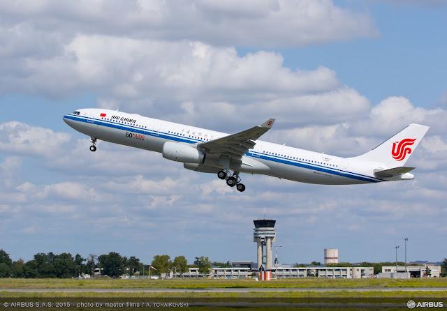 É MAIS QUE VOAR | O 50º Airbus A330 da Air China concluiu o voo de teste com êxito