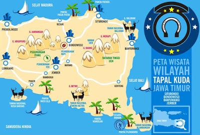 Peta Wisata Tapal Kuda Jawa Timur