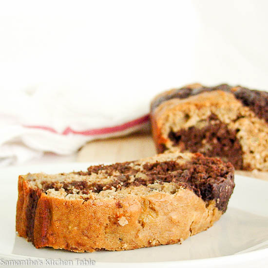 Healthy Chocolate Banana Loaf