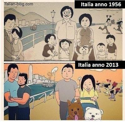 Италия в 1956 и в 2013 году