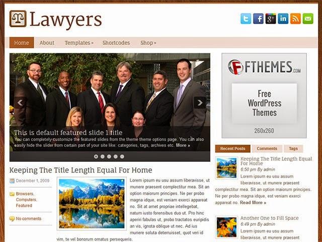Lawyers - Free Wordpress Theme