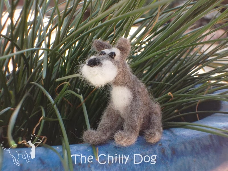 Needle Felted Miniature Schnauzer
