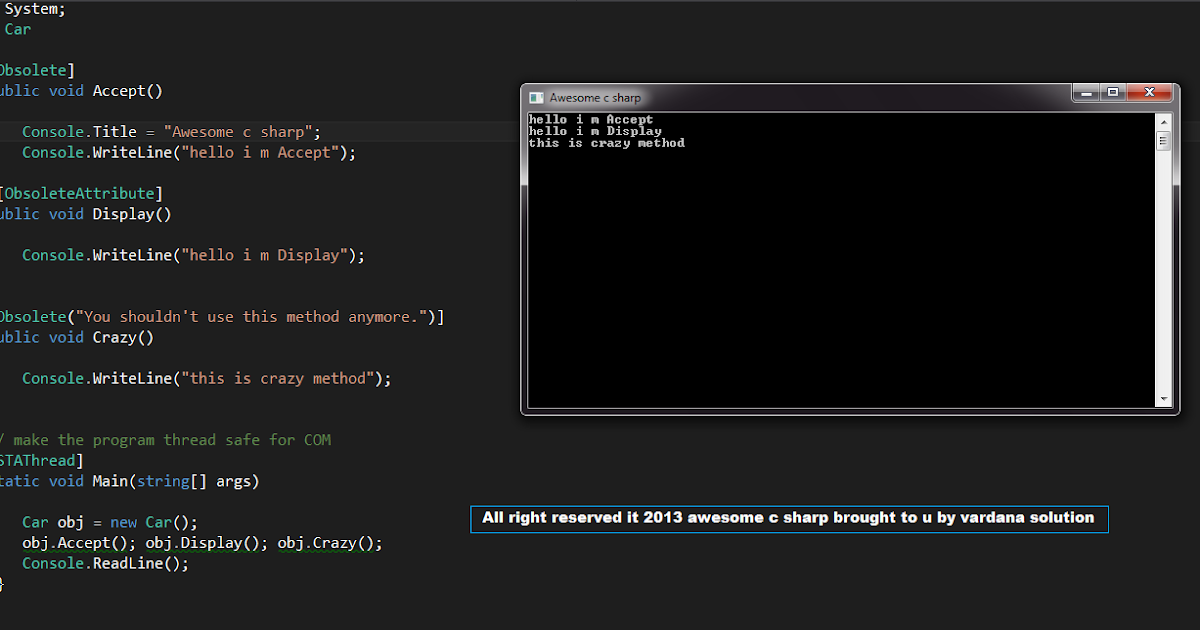 awesome Csharp: C# Attribute and reflection : awesome c sharp Reflection