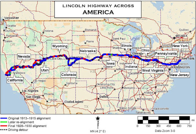 Retro Kimmer S Blog The Us Lincoln Highway Is The