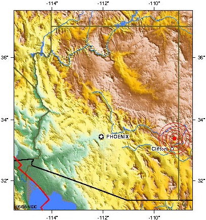 ARIZONA USA earthquake 2012 october 14