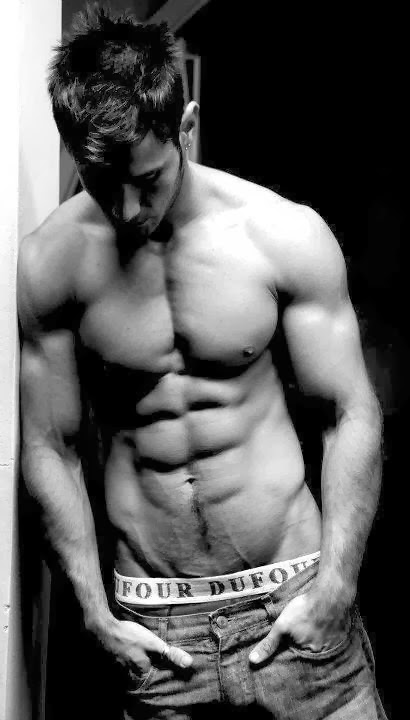 Black & White Athlete's Abs