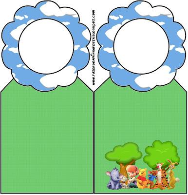 Marcapáginas imprimible gratis de Winnie de Pooh y sus amigos.
