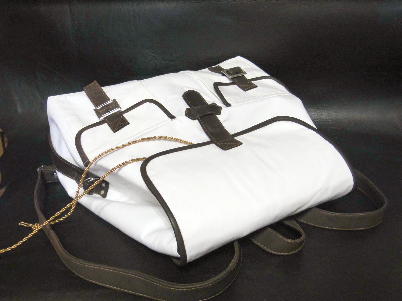 Городской рюкзак белый в подарок девушке
