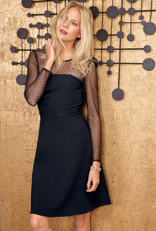 vestido negro para fiesta La Redoute