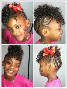 id e de coiffure sur cheveux cr pus pour petite fille soin des boucles. Black Bedroom Furniture Sets. Home Design Ideas