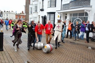 Weymouth Charity Barrel Challenge Harbourside 30th August 2014