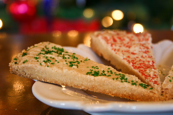 Scottish Shortbread Cookie Wedges.