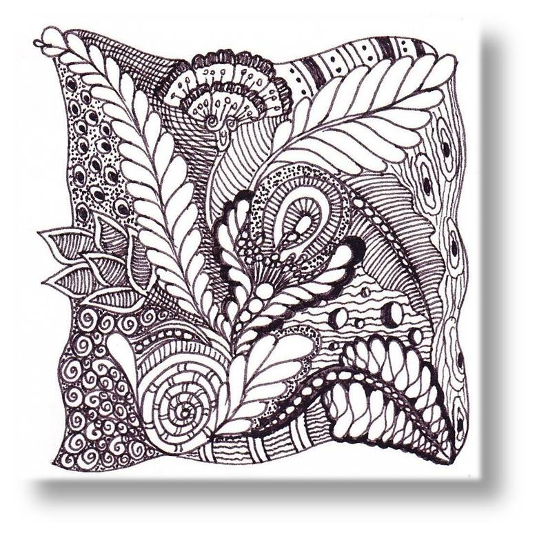 journey through zentangle art zentangle tiles With zentangle tile template