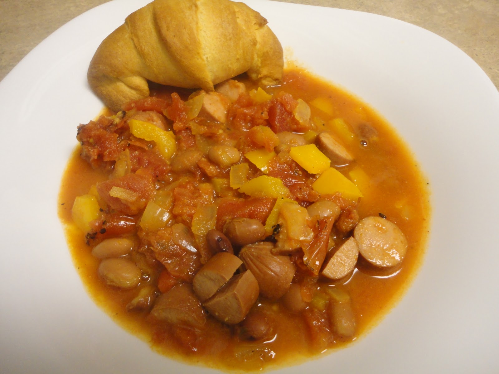 Mexican Style Stew With Hot Dogs