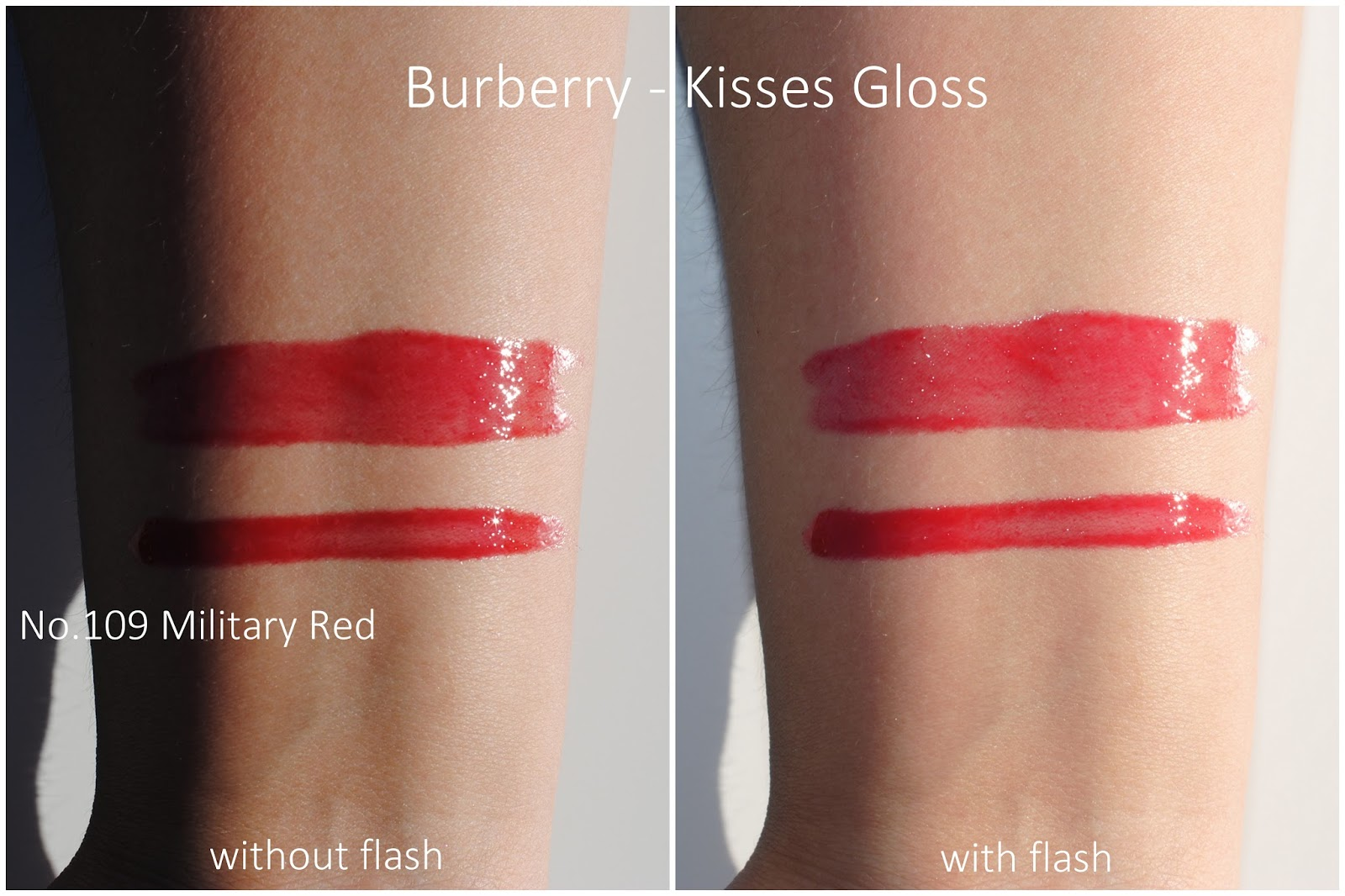 burberry festive gold holiday 2015 kisses gloss military red swatches
