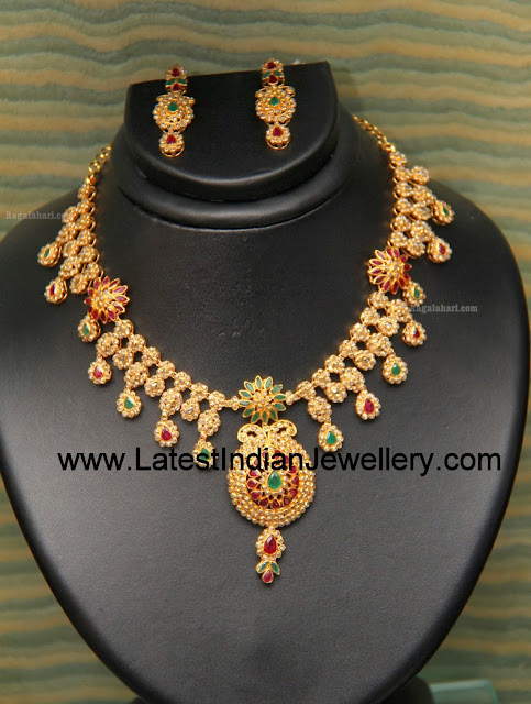 Uncut Diamond Designer Necklace
