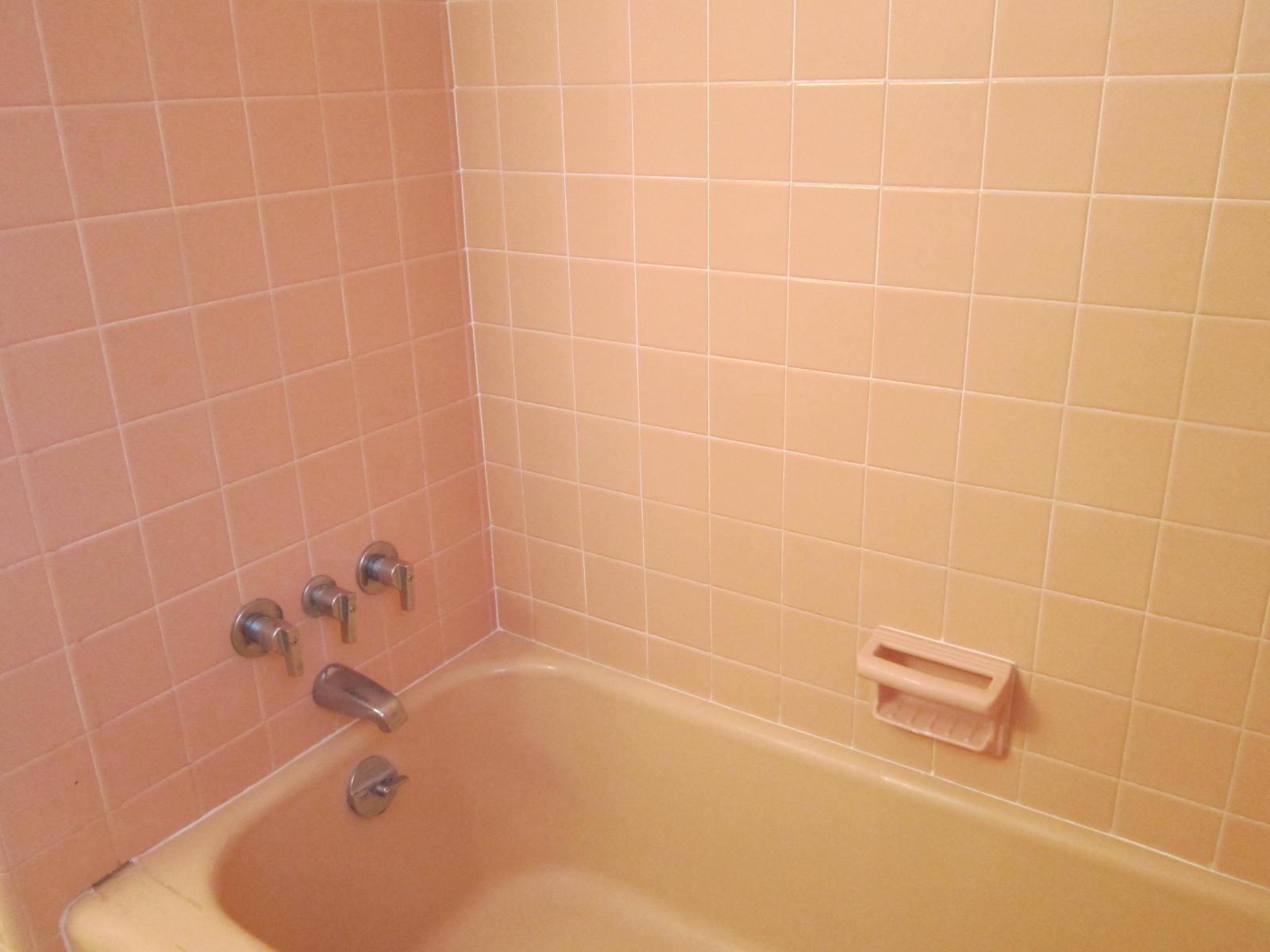 ... Design Megillah Turning A Pink Bathroom White Vintage Tile ...