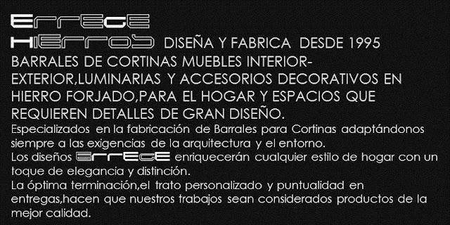 Barras para cortinas en hierro forjado barrales de for Fabricas de muebles en montevideo uruguay