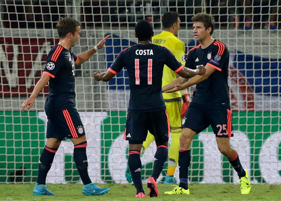 Olympiacos 0 x 3 Bayern de Munique - Grupo F / Champions League 2015/16