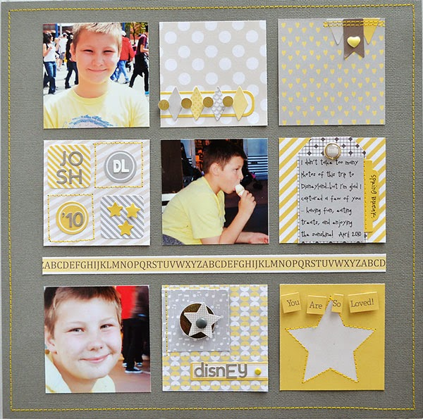 Wendy Sue Anderson Chickaniddy Twirly Girly Boy Layout