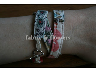 Fabric Wrap Bracelet tutorial by fabricandflowers | Sonia Spence