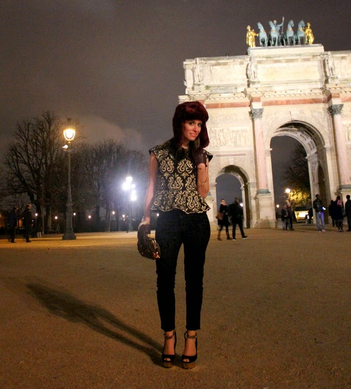 fashion blog, fashion blogger, streetstyle, paris, arc du triomphe du carrousel, fashion, baroque, look barroco, barroco, outfit