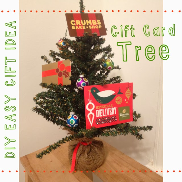 Last minute gift idea gift card tree the chirping moms the gift card tree what a great idea for friends teachers neighbors or really anyone all you have to do is find a mini christmas tree and ornaments negle Images