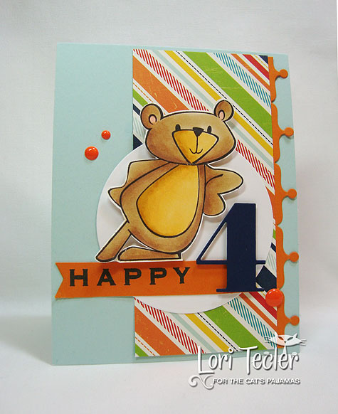 Happy 4th Birthday-designed by Lori Tecler-Inking Aloud-stamps from The Cat's Pajamas