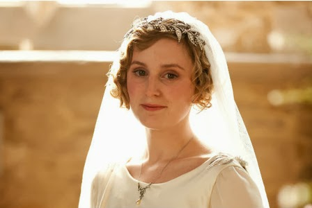 Trends in vintage wedding dresses, Lady Mary from Downton Abbey, Edwardian style