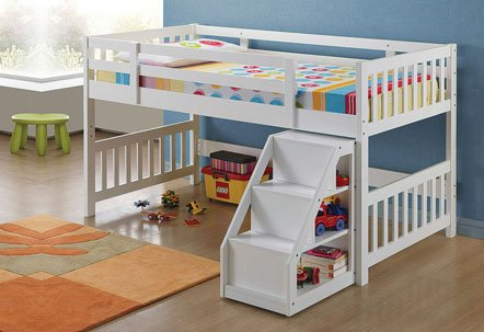 Total Fab Toddler Low Loft Beds With Stairs