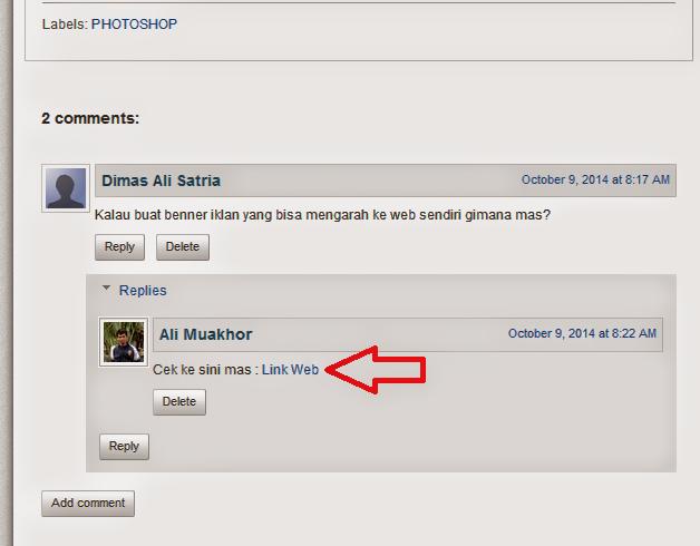 Cara Membuat Link di Komentar Blog