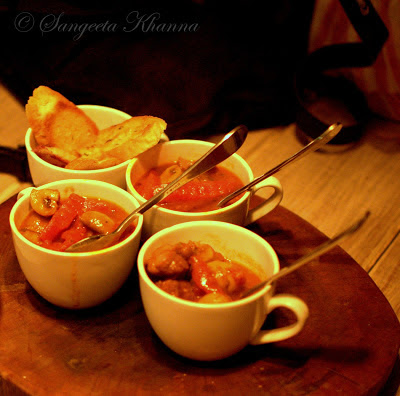 Godfather's stew from The Dirty Martini | a lamb goulash that makes you forget your drink..