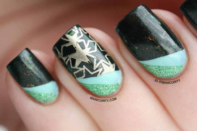 Manicurity | piCture pOlish #ManiMonday: Mallard - Swatches, Review, and Tape Nail Art