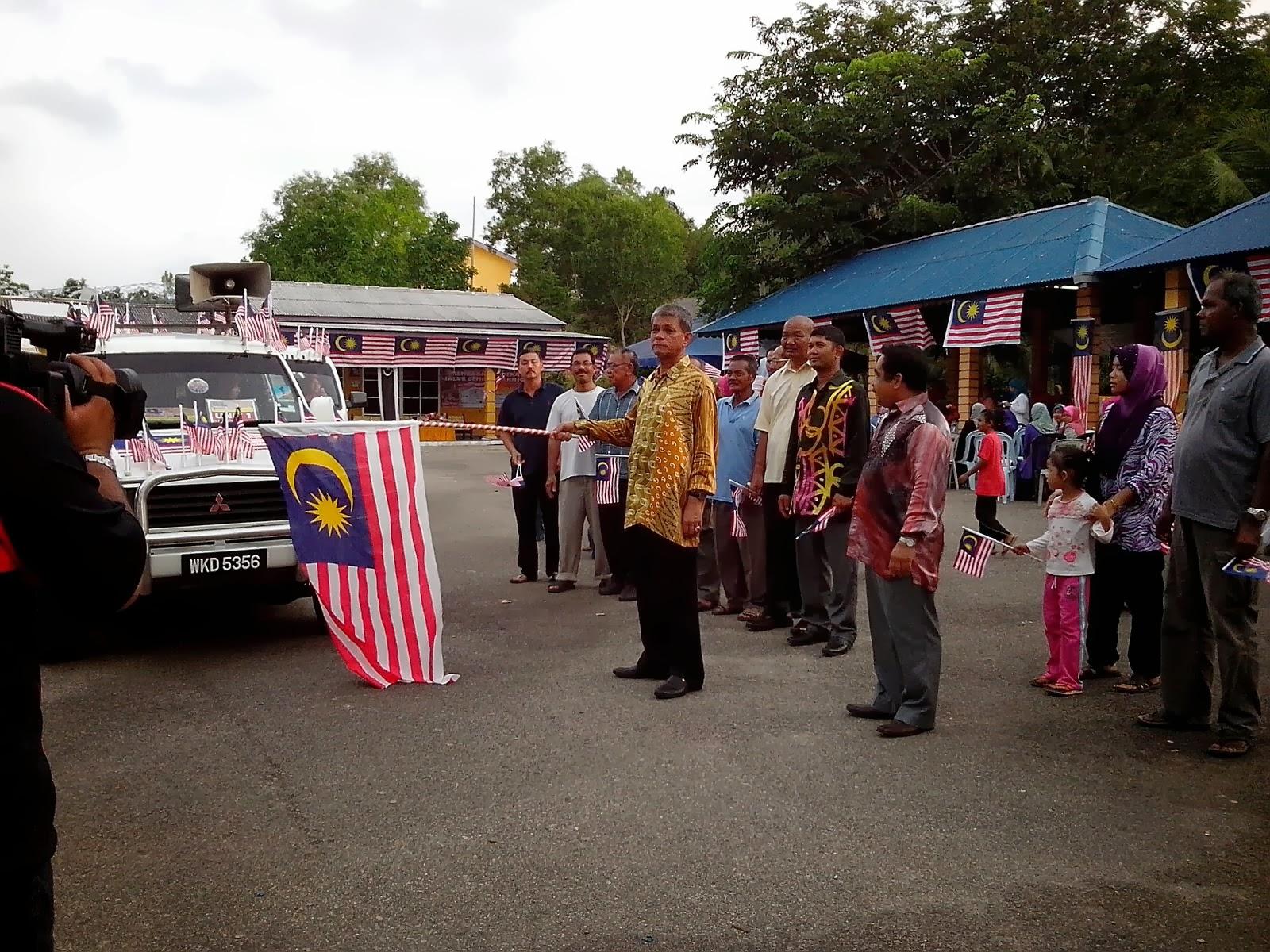 Kembara MERDEKA Jalur Gemilang Oleh K 1 Malaysia Mukim Rusila