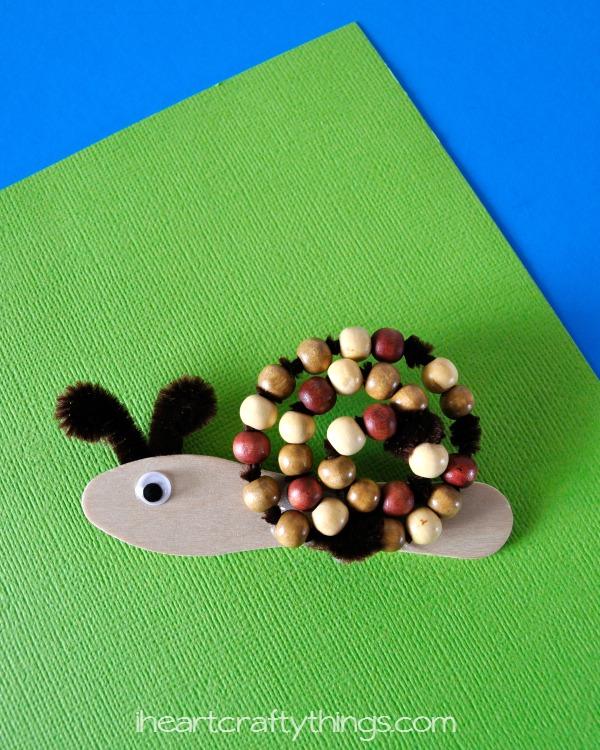 Beaded Snail Kids Craft