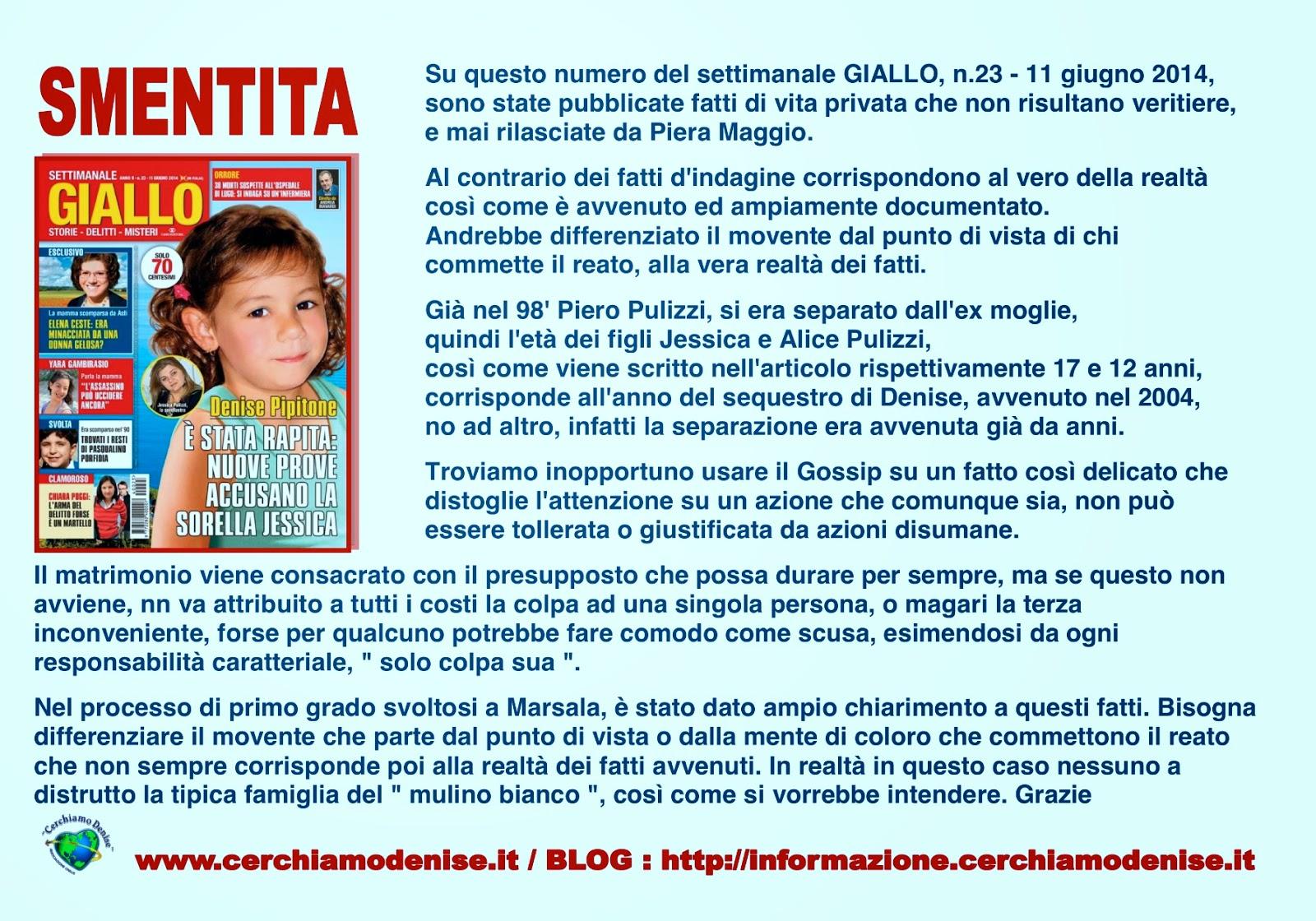 Blog di informazione cerchiamo denise www for Gente settimanale sito