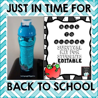 Back to School Survival Kit for Students  http://teachingisagift.blogspot.ca