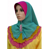 Tudung Chiffon 3 Layer Plain