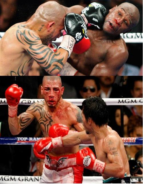 floyd struggled with cotto while pacquiao walked on cotto