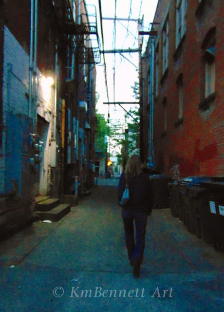 Walking in alley