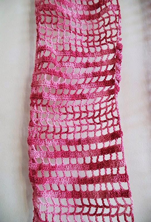 Art Li and Stuff - Crocheted Thread Lace Scarf