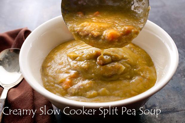 My Favorite Things: Creamy Slow Cooker Split Pea Soup