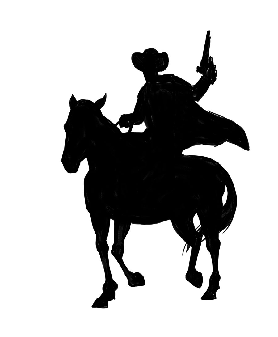 Cowboy silhouette png