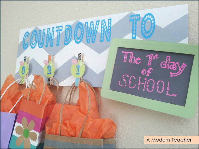 Chevron Countdown Sign A Modern Teacher