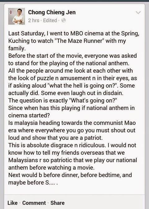 Wakil Rakyat Kecam Lagu Negaraku Minta Maaf