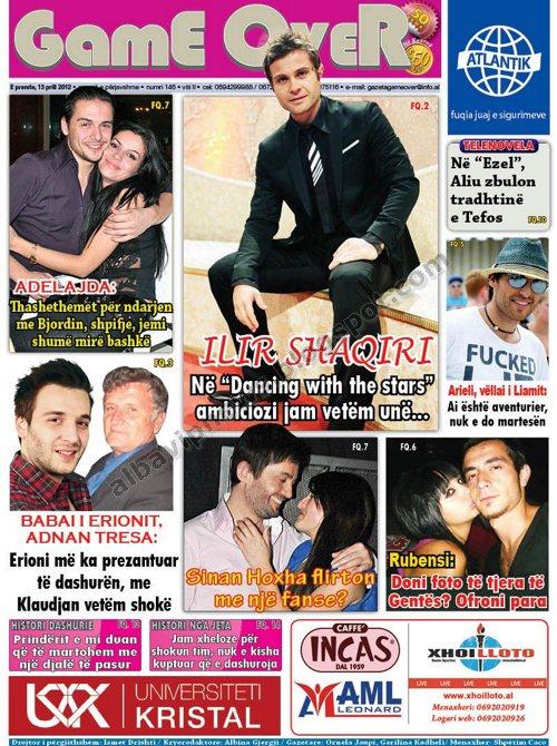revista game over 13 prill 2012 adelajda thashethemet per ndarjen me ...