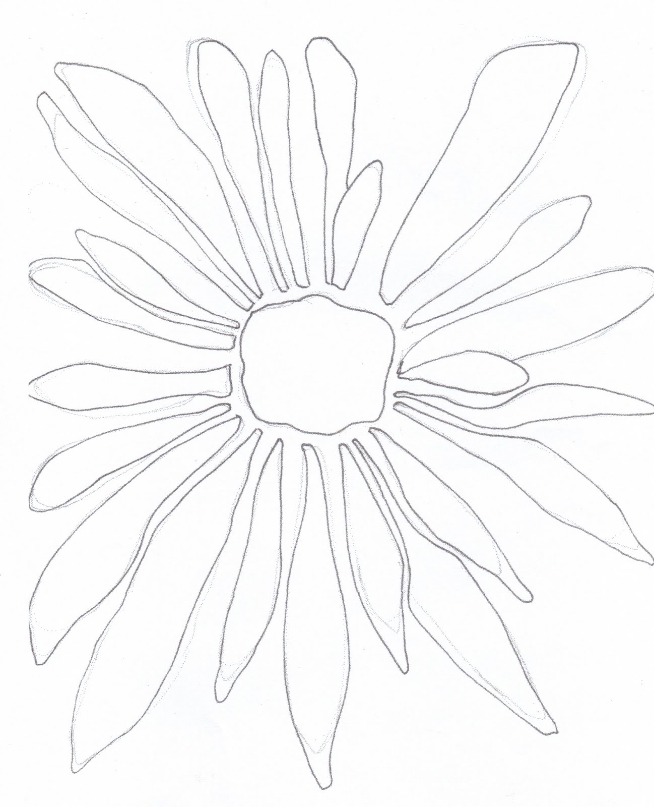 Simple Floral Line Art : Carol sloan studios