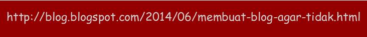 Membuat URL Artikel Blog Agar Tidak Terpotong